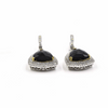Mystere - 18 Karat Gold and Diamonds Onyx Necklace and Earrings Set