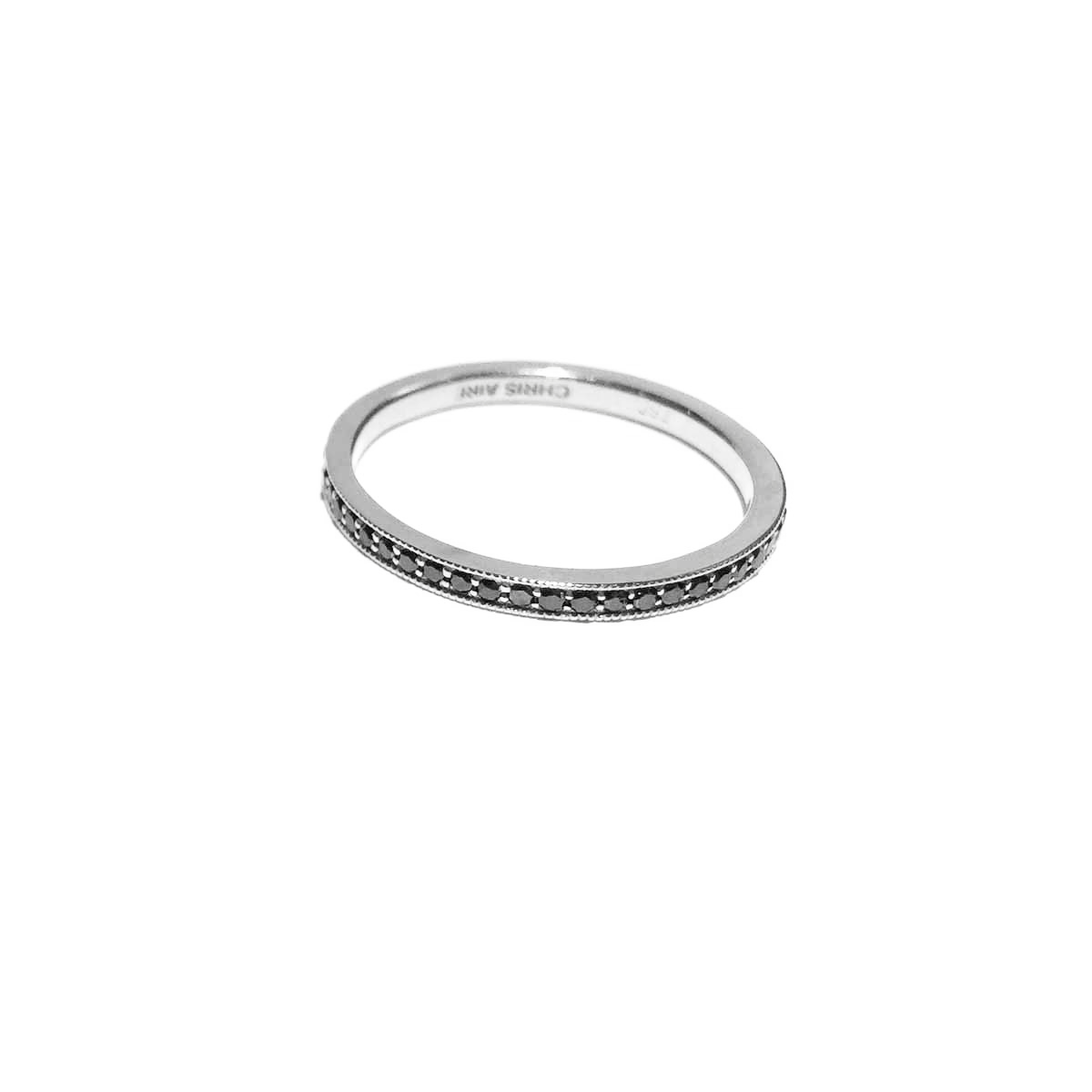 Aire Black Diamond Wedding Band