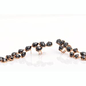 Load image into Gallery viewer, Gracious Flow - Black Diamond Earrings