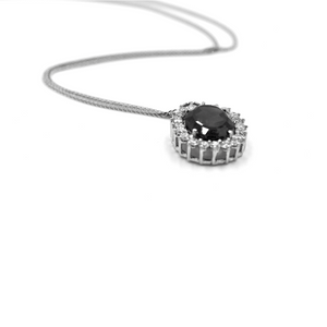 New- Black Diamond Necklace