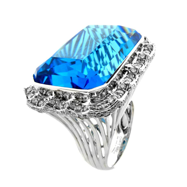BLUE TOPAZ GEMSTONE RING - THE CZAR - Chris Aire Fine Jewelry & Timepieces