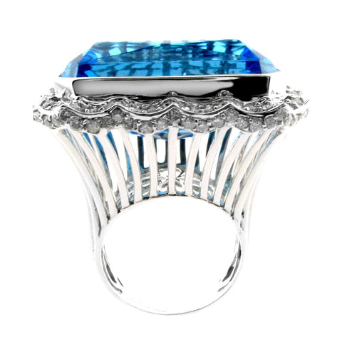 BLUE TOPAZ GEMSTONE RING - THE CZAR