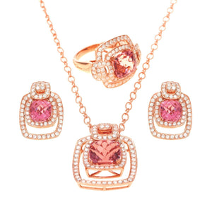 Load image into Gallery viewer, Heiress - 18 Karat Amber Hue Gold, Diamonds and Tourmaline Jewelry Set