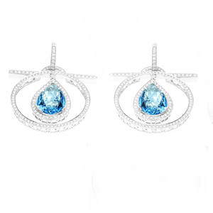 Load image into Gallery viewer, Genesis - Topaz and Diamonds Earrings
