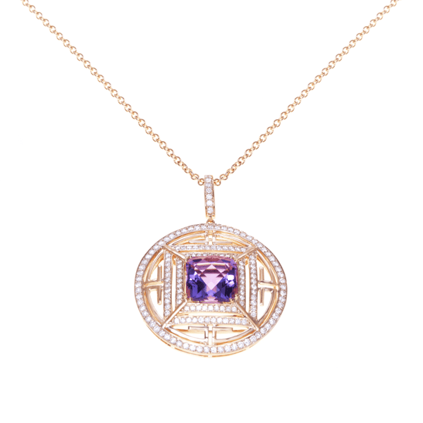 AMETHYST PENDANT -CHAMELEON - Chris Aire Fine Jewelry & Timepieces