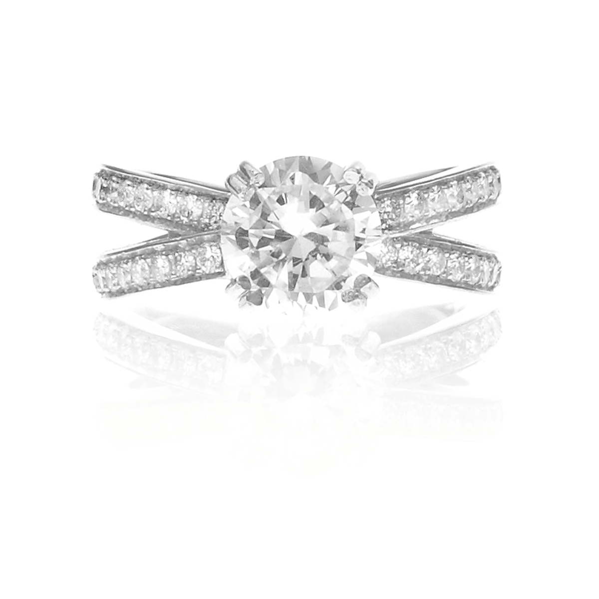 CROSS ENGAGEMENT RING - Chris Aire Fine Jewelry & Timepieces