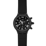 Aire Parlay Swiss Made Chronograph Quartz Over-Sized Black Watch
