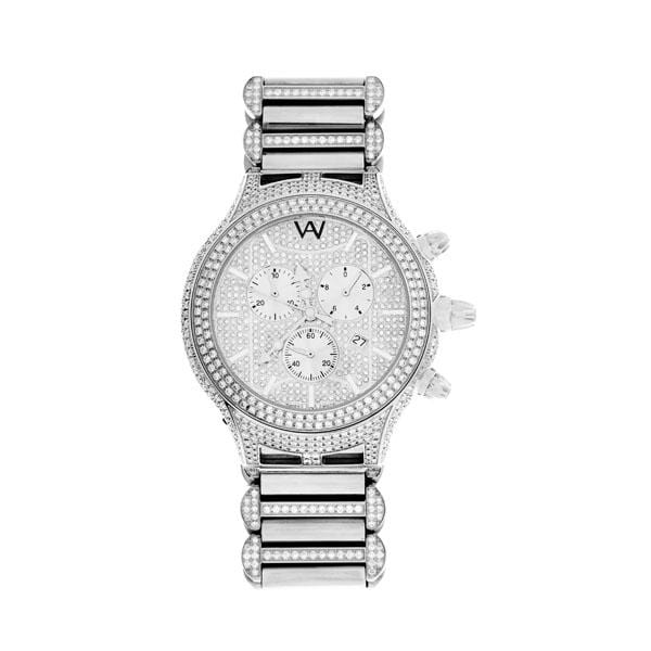 Aire Parlay Swiss Made Chronograph Over-Sized Mens Diamond Watch