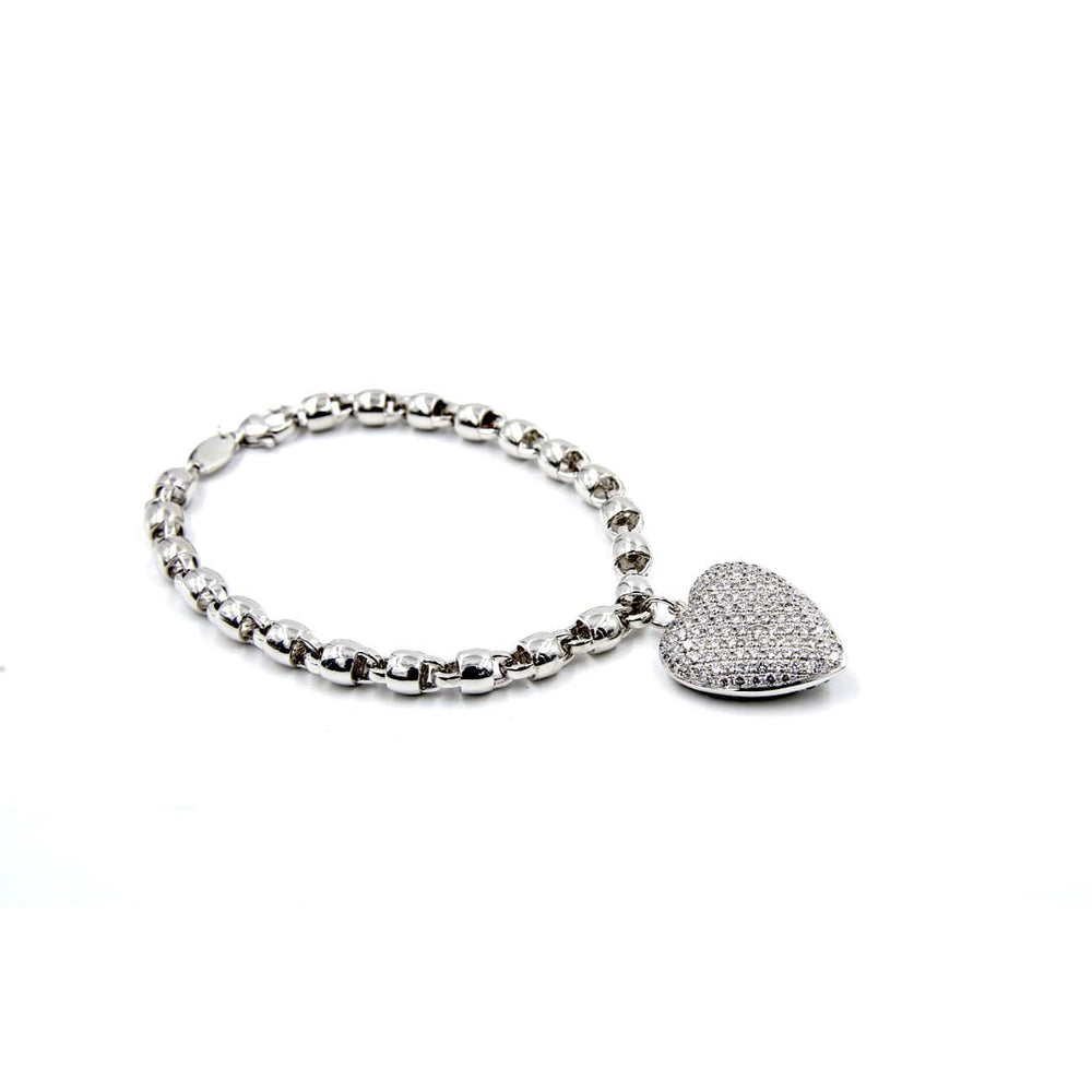 Load image into Gallery viewer, CHARM BRACELET - HEART CHARM BRACELET - Chris Aire Fine Jewelry & Timepieces