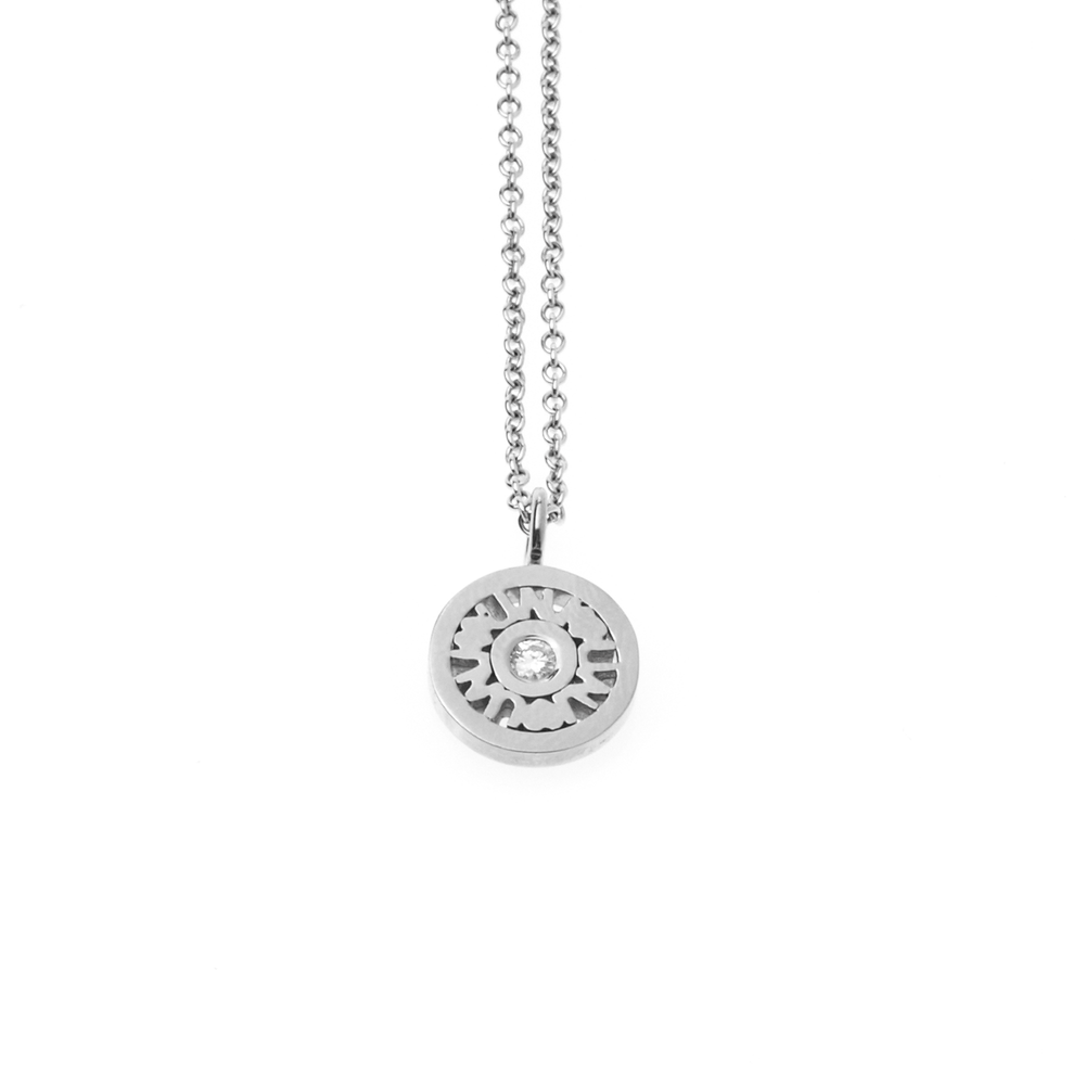 """I Love You Forever"" - 18 Karat White Gold Dainty Diamond Necklace"