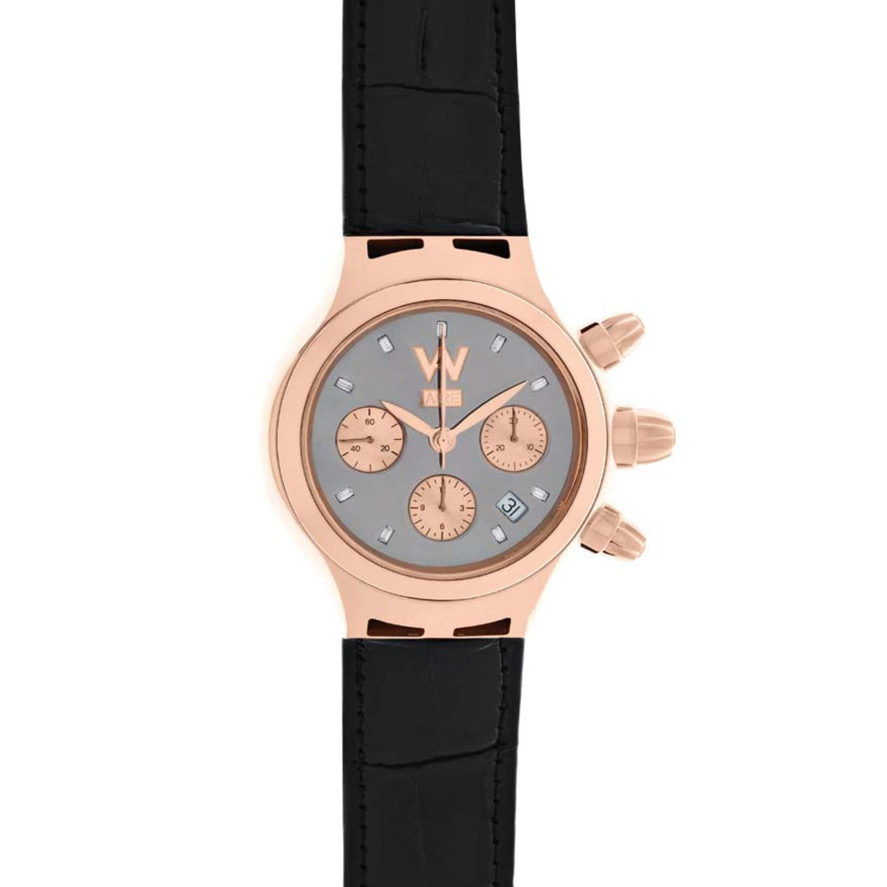 Aire Parlay Swiss Made Chronograph Unisex 18 Karat Solid Gold Watch - RED GOLD®