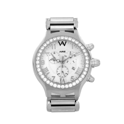 Aire Parlay Swiss Made Quartz Chronograph Over-Sized Mens Diamond Watch