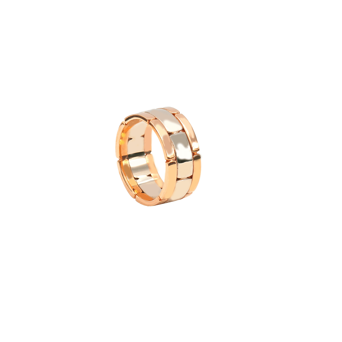 CHRIS AIRE WEDDING BAND -  WIDE TWO TONE