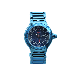 Aire Parlay Swiss Made GMT Watch (Blue)