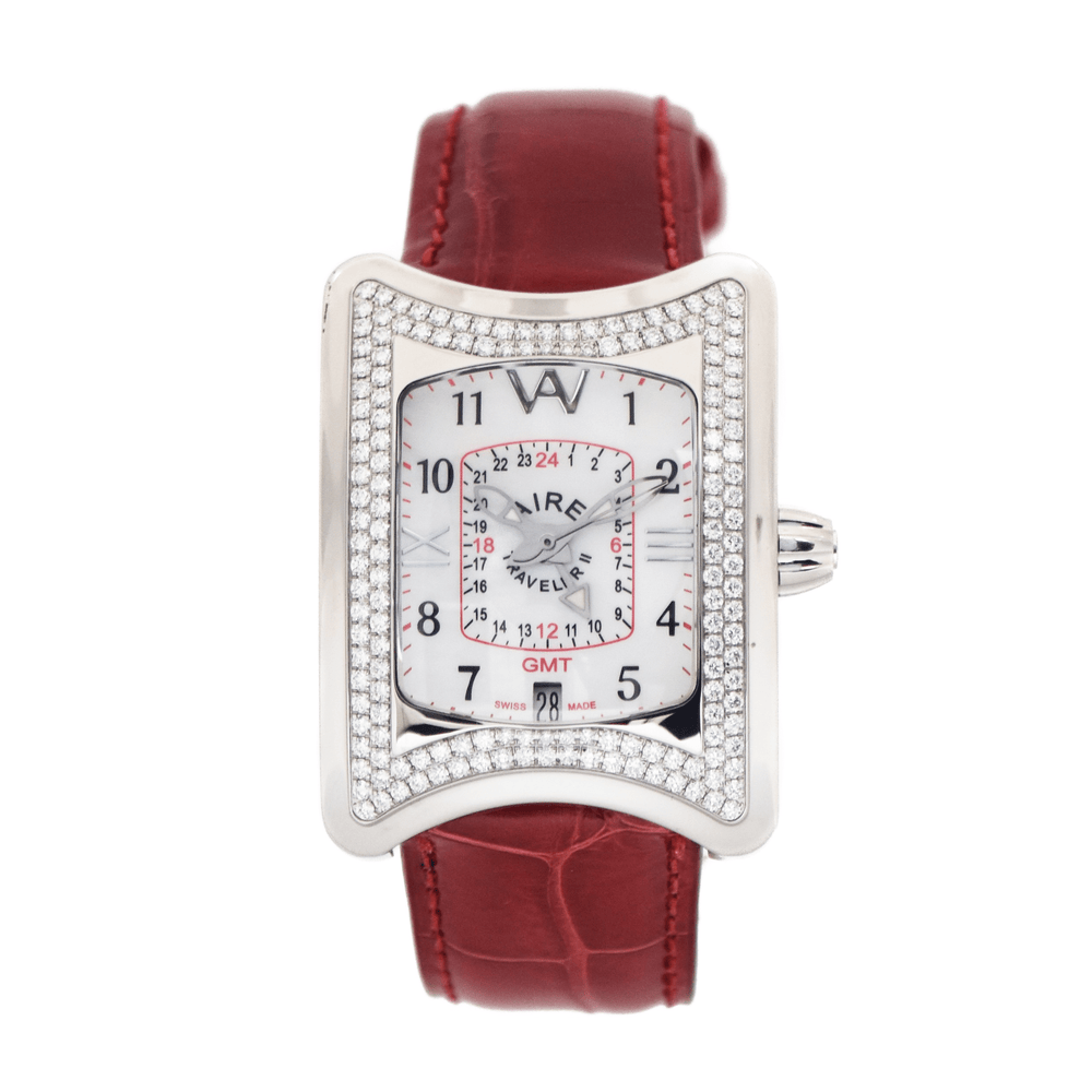 Aire Traveller II GMT Swiss Made Automatic Unique Diamond Watch