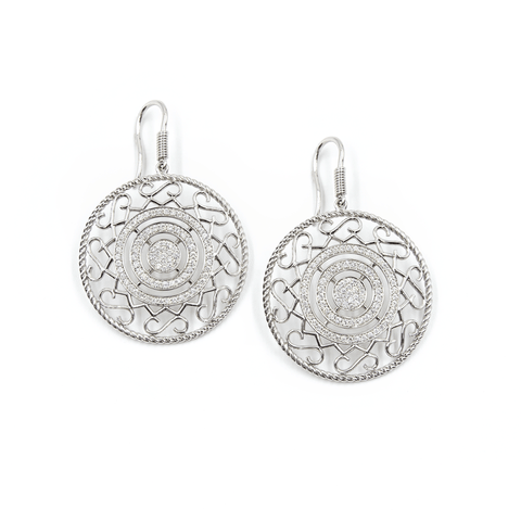 CIRCLE OF LOVE DIAMOND EARRINGS