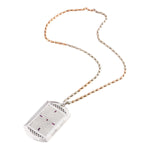 Clockwork -18 Karat White Gold Full Diamond Dog Tag