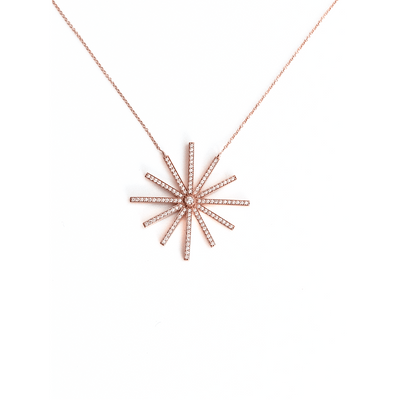 Constellation Necklace - 18 Karat Amber Hue Gold Diamond Necklace - Red Gold®