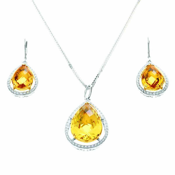 AIRE YELLOW AQUAMARINE SET - SUNRAYS - Chris Aire Fine Jewelry & Timepieces