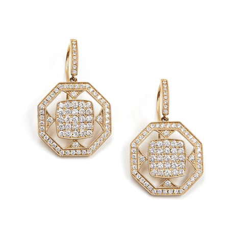 DIAMOND EARRINGS-FENG SHUI