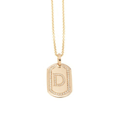 AIRE SMALL DIAMOND DOG TAG - Chris Aire Fine Jewelry & Timepieces