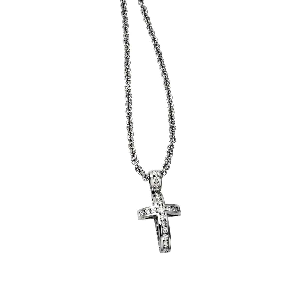WHITE GOLD DIAMOND CROSS - Chris Aire Fine Jewelry & Timepieces