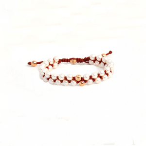 Load image into Gallery viewer, Pearl Prayer Bead Bracelet-DUPLICATE