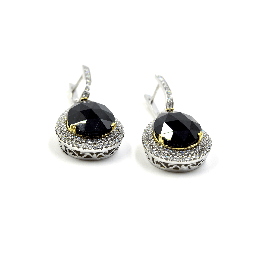 Load image into Gallery viewer, New- Black Diamond Earrings