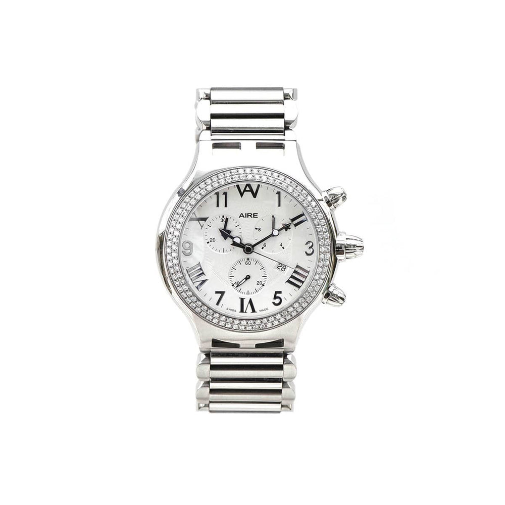 Aire Parlay Swiss Made Over Sized Chronograph Mens Diamond Watch