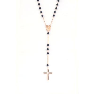 Rosary Necklace -18 Karat Amber Hue Gold