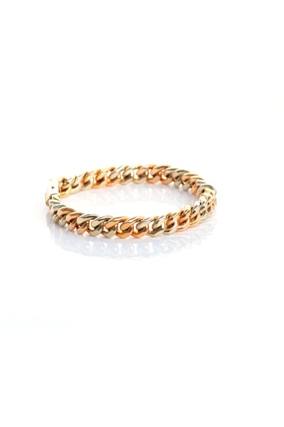 Aire Cuban Link two tone bracelet - Chris Aire Fine Jewelry & Timepieces