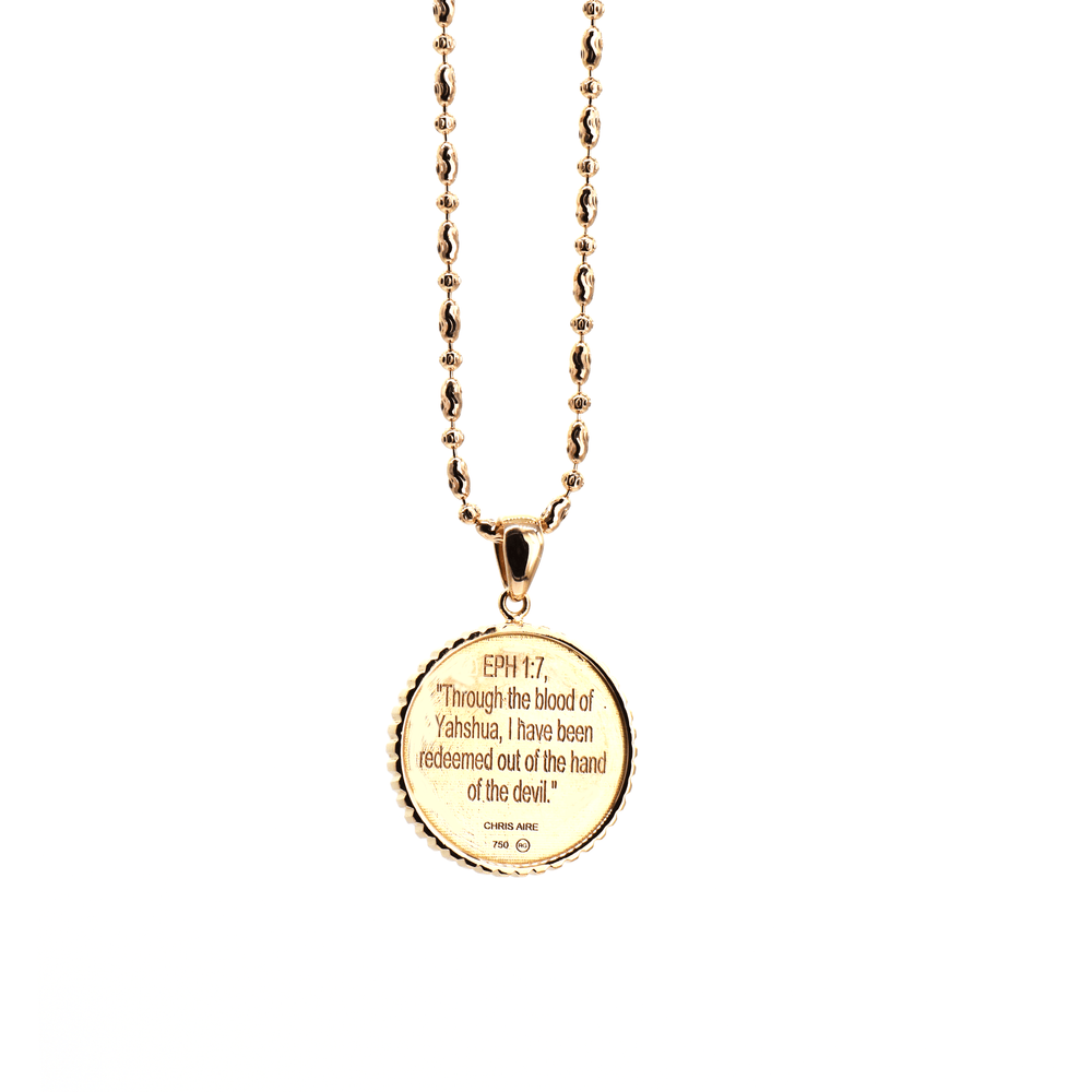 Christian Faith - 18 Karat Amber Hue Gold Necklace