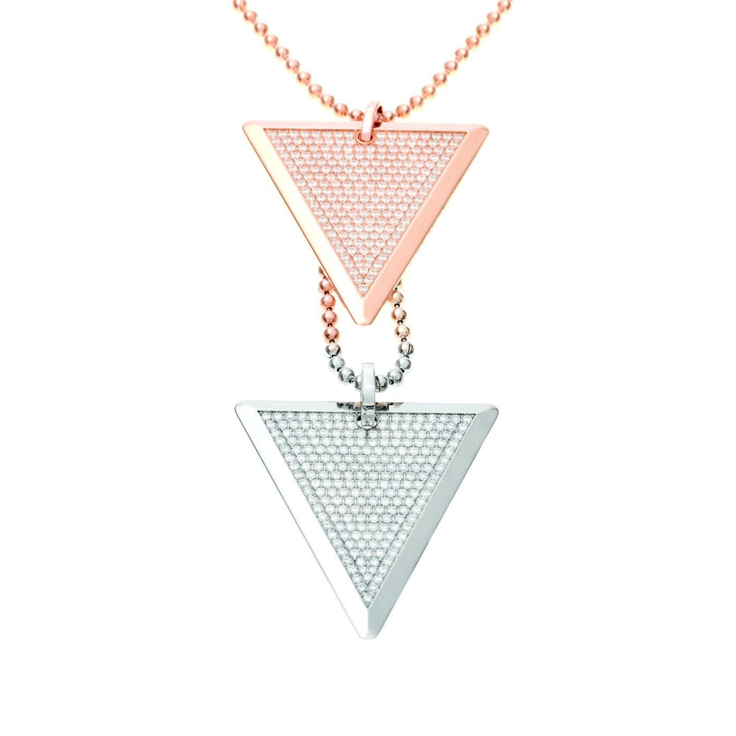 DIAMOND NECKLACE - DOUBLE TRI-TAGS - Chris Aire Fine Jewelry & Timepieces