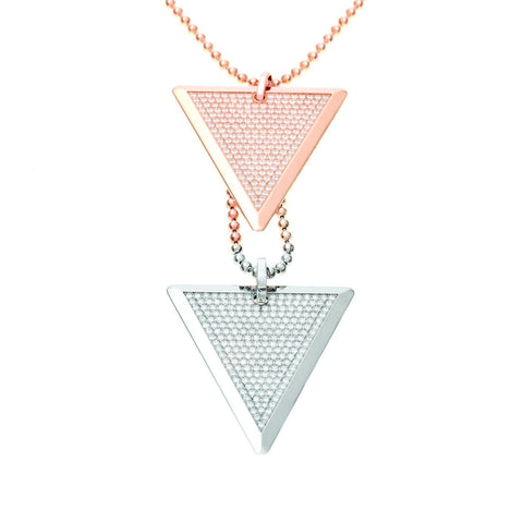 DIAMOND NECKLACE - DOUBLE TRI-TAGS