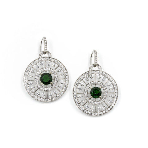 DUCHESS DIAMOND AND GEMSTONE EARRINGS