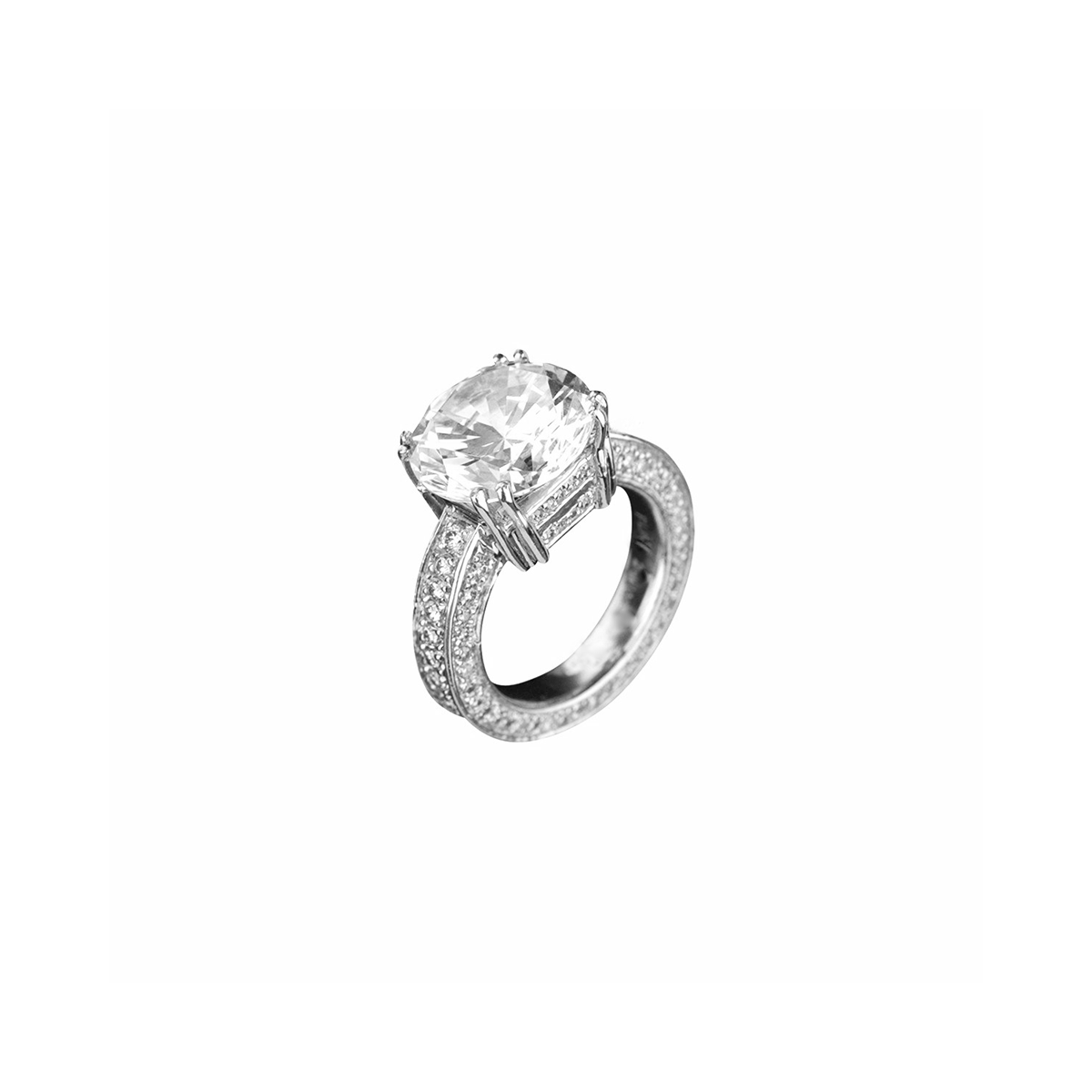 Agape - Platinum Diamond Engagement Ring