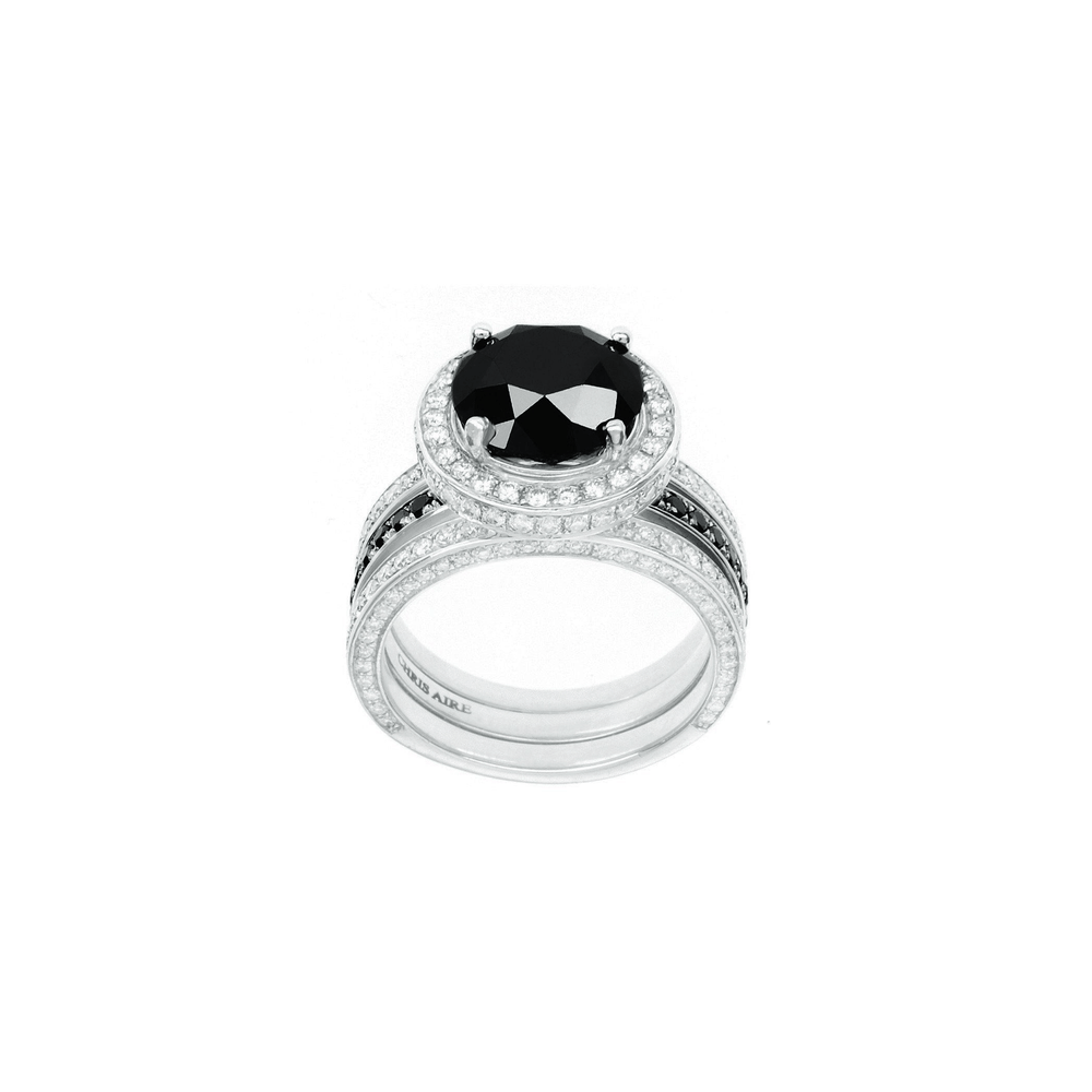 Load image into Gallery viewer, Sarah - Black Diamond Engagement Ring