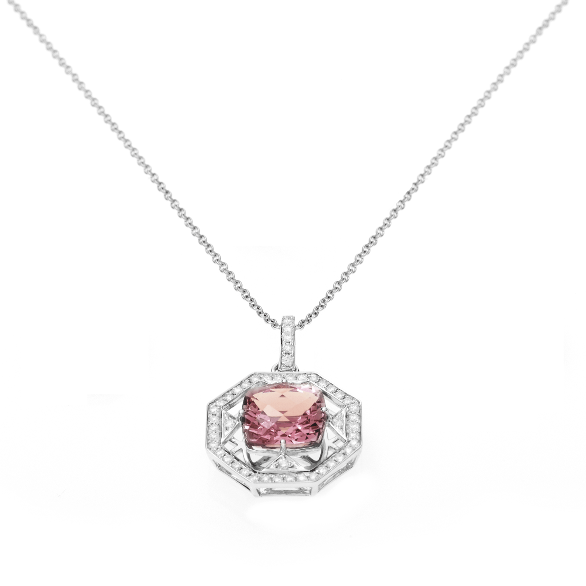 PINK TOURMALINE NECKLACE- FENG SHI - Chris Aire Fine Jewelry & Timepieces
