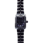 Aire Traveler II GMT Swiss Made Automatic Black Watch With Black Diamonds