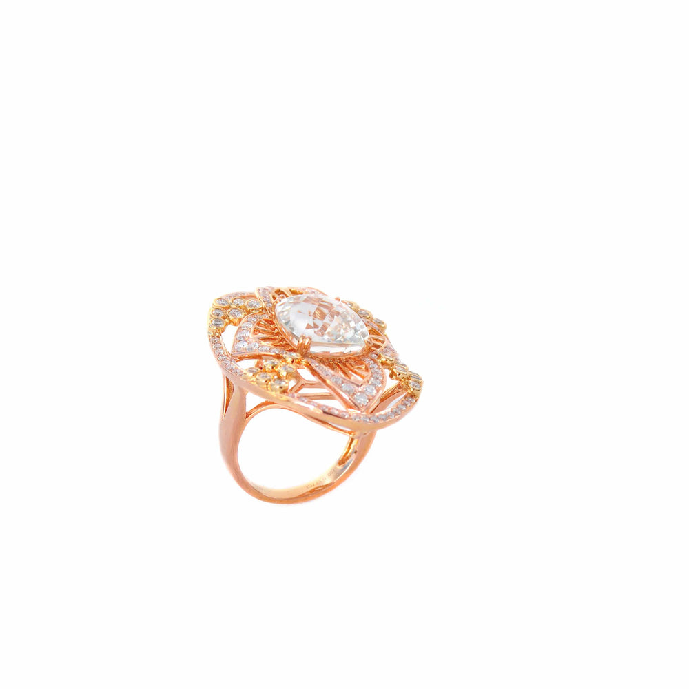 WHITE TOPAZ RING - CROWN JEWEL - Chris Aire Fine Jewelry & Timepieces
