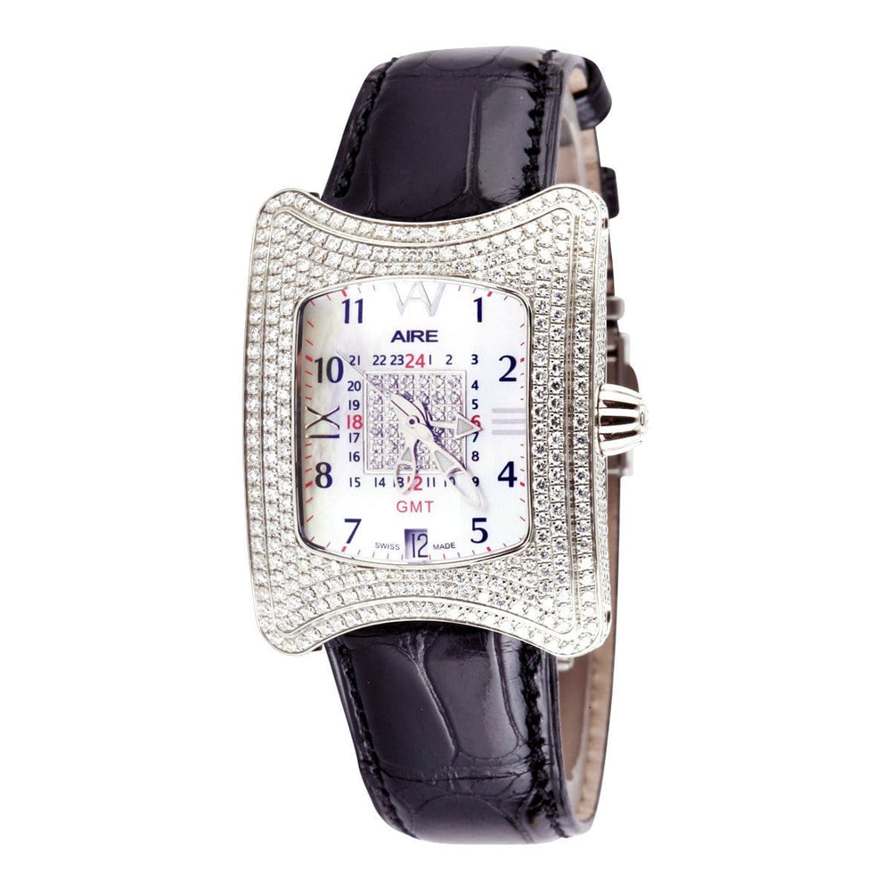 Aire Traveler II GMT Swiss Made Automatic Full Diamond Case Unisex Watch