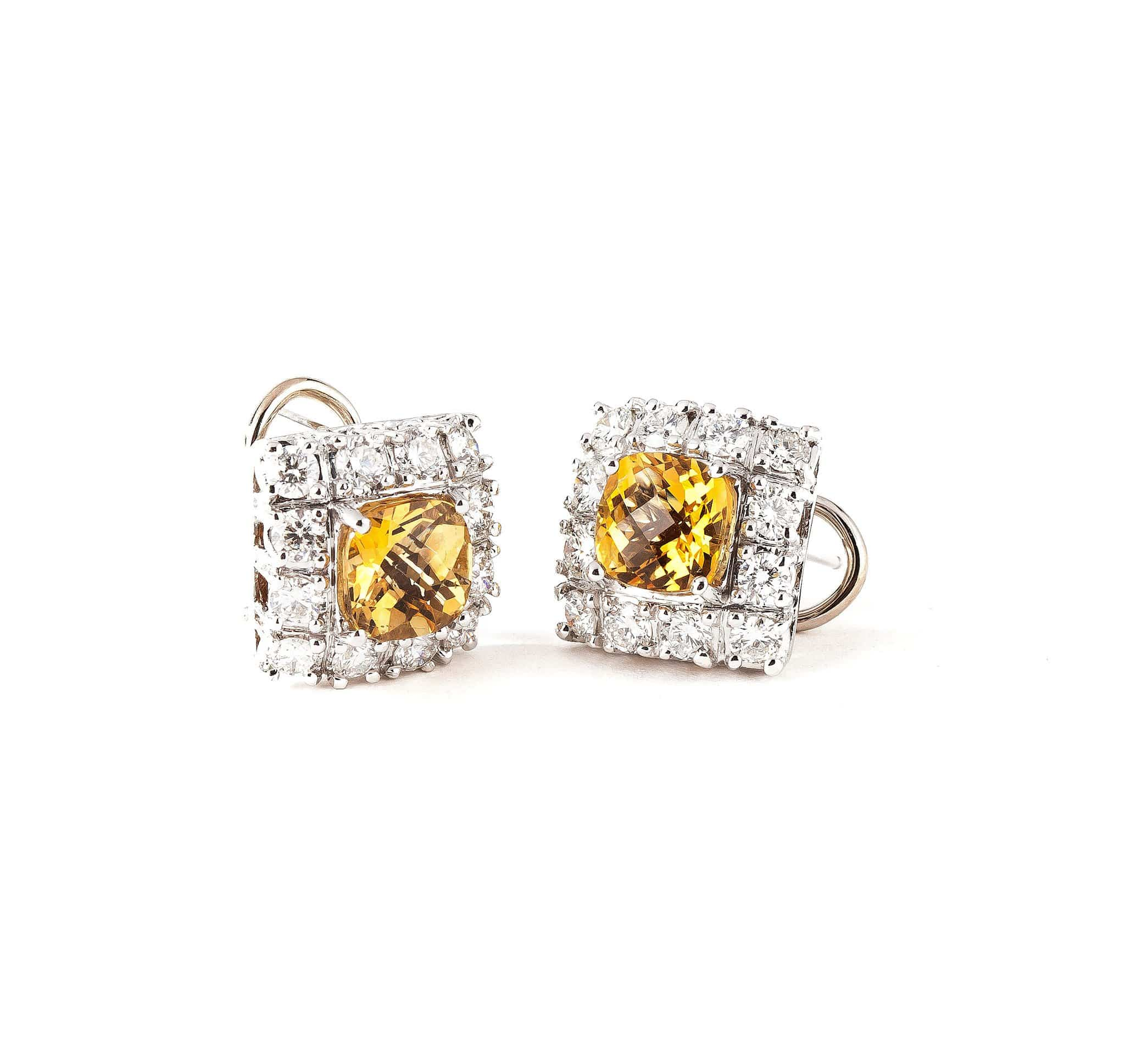 CITRINE GEMSTONES AND DIAMONDS EARRINGS - GRACE TO GLORY - Chris Aire Fine Jewelry & Timepieces