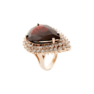 The Power Within -  Garnet Gemstones & Diamond Ring in 18 Karat Gold