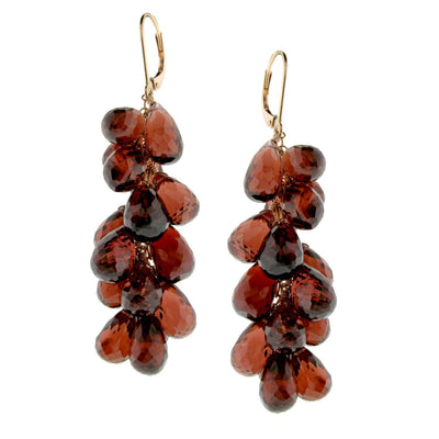 AIRE-GARNET EARRRINGS - Chris Aire Fine Jewelry & Timepieces