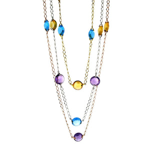 MULTI-COLORED GEMSTONES NECKLACE - Chris Aire Fine Jewelry & Timepieces
