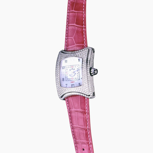 CHRIS AIRE TRAVELER II GMT DIAMOND WATCH - Chris Aire Fine Jewelry & Timepieces
