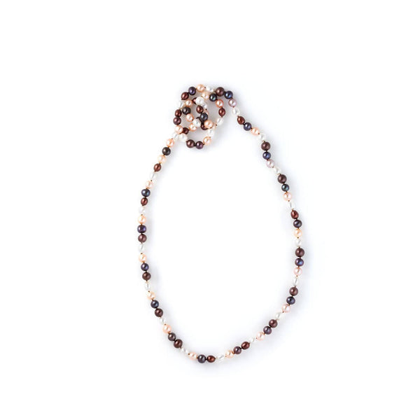 AIRE PEARL NECKLACE - MULTI-COLORED PEARL NECKLACE