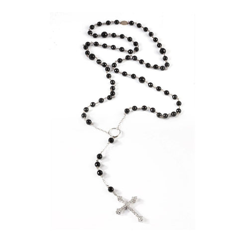 AIRE ONYX ROSARY NECKLACE