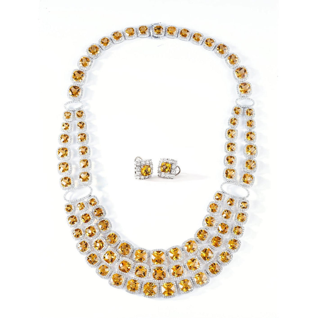 CITRINE GEMSTONES NECKLACE SET - GRACE TO GLORY - Chris Aire Fine Jewelry & Timepieces