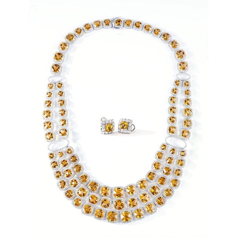 CITRINE GEMSTONES NECKLACE SET - GRACE TO GLORY